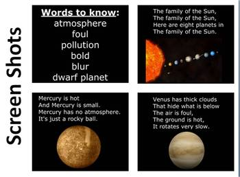 """""""The Family of the Sun"""" - Solar System Song - Smart Board Notebook File"""