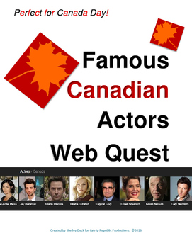The Famous Canadian Actor Web Quest