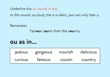 The Famous Cousin From The Country: Learn The Phonic Sound ou