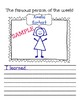 The Famous Person of the Day/Week Worksheets