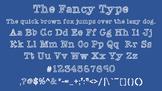 The Fancy Type Font