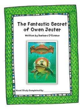 The Fantastic Secret of Owen Jester Novel Study