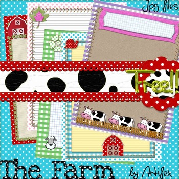 The Farm: 5 border frames. Freebie!