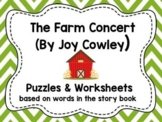 """Worksheets for use with """"The Farm Concert"""" Book"""
