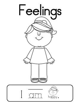 Feelings - Emergent reader focusing on SW am