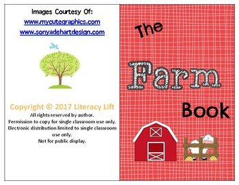 The Farm - Guided Reading Level aa/A book