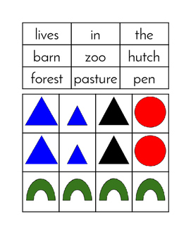 The Farm - Simple Sentence Building Cards with Grammar Symbols