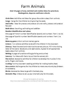 The Farm and Farm Animals Lesson Plans