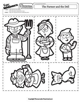 The Farmer and the Dell - Nursery Rhyme Activity