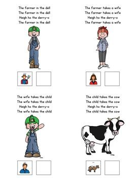 The Farmer in the Dell: Adapted Book for Students with Autism & Special Needs