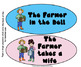 The Farmer in the Dell: Halloween costume/Visual aides large & center size