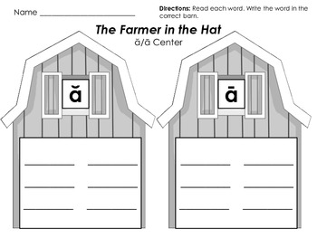The Farmer in the Hat Literacy Pack - First Grade Foresman Reading Street