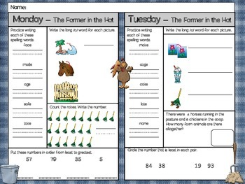 The Farmer in the Hat Homework - Scott Foresman