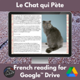 The Farting Cat - story for French learners for Google Drive