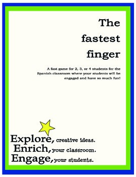 The Fastest Finger - Spanish Alphabet and Numbers
