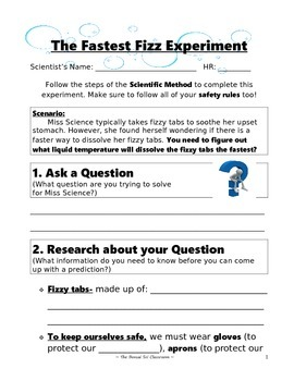 The Fastest Fizz Experiment Lab