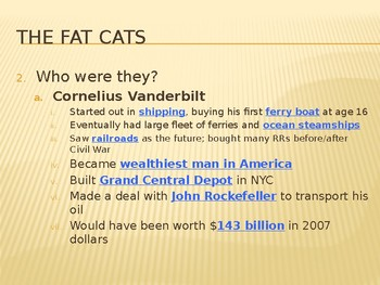 The Fat Cat Industrialists PowerPoint Lecture