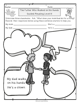 The Father Who Walked on His Hands, Guided Reading Lesson, Level H
