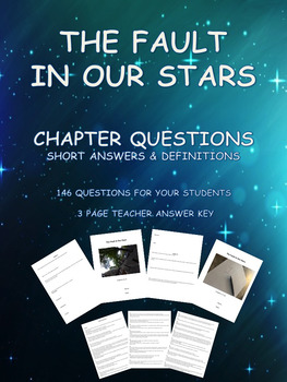 The Fault In Our Stars  -  146 Short Answer Questions and Definitions