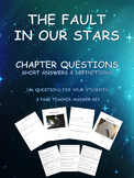 The Fault In Our Stars  -  146 Short Answer Questions and