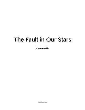 The Fault In Our Stars Quiz Bundle
