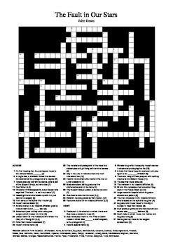 The Fault in Our Stars - Crossword Puzzle