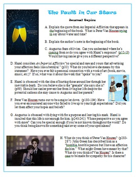 The Fault in Our Stars - Novel Unit Resources