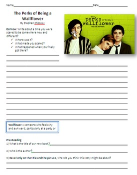The Fault in Our Stars & Perks of Being a Wallflower Reading Guides - Bundle
