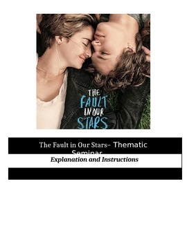 Socratic Seminar - The Fault in Our Stars - Common Core Aligned