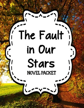 The Fault in Our Stars by John Green - Novel Unit Bundle