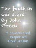 Free The Fault in our Stars:Writing Prompts Constructed Response CCSS