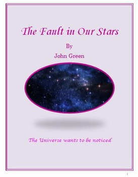 The Fault in our Stars Daily Lesson Plans and Activities