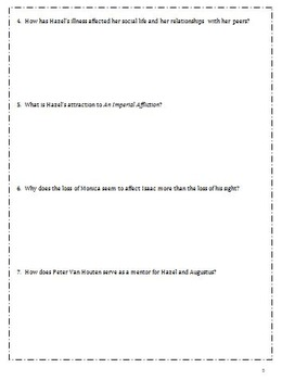 The Fault in our Stars Review Quizzes