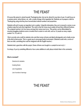 The Feast - Multiplying & Dividing Fractions