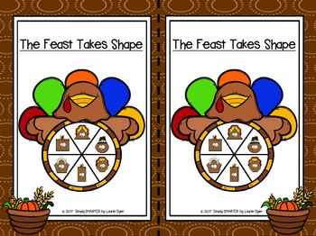 The Feast Takes Shape:  LOW PREP Thanksgiving Themed Flat Shape Activities
