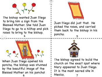 The Feast of Our Lady of Guadalupe Mini Book and Coloring Page