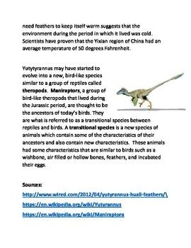 The Feathered Tyranosaurus Rex