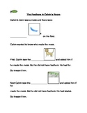 """The Feathers in Calvin's Room"" Story Comprehension Worksheets"