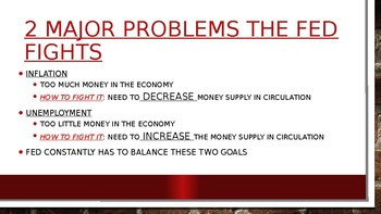 The Fed and Monetary Policy PowerPoint