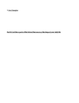 The Federal Bureaucracy