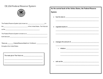 The Federal Reserve System note page (Virginia Civics SOL CE.13d)