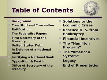 The Federalist Era - Financial Policies of Alexander Hamilton