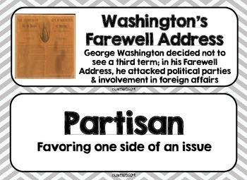 George Washington and John Adams Word Wall