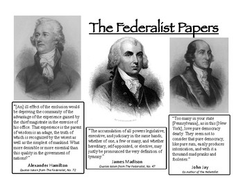 The Federalist Papers Quotes and Questions