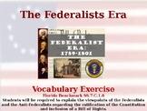 The Federalists Era - Unit Vocabulary Exercise