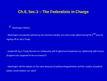 The Federalists in Charge - XYZ Affair, Alien & Sedition A