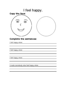 The Feelings Circle Journal Grades 3-6 (Human Faces)