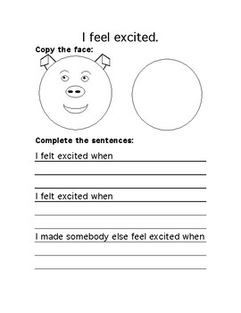 The Feelings Circle Journals Grade 1-2 (Animal Faces)