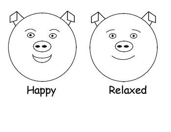The Feelings Circle Mini-Posters Grades K-2 (Animal Faces)