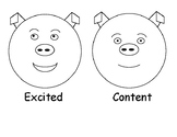 The Feelings Circle Mini-Posters Grades K-2 (Animal Faces)